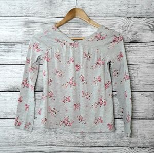 Gap Girls Floral Long Sleeve Top size 12